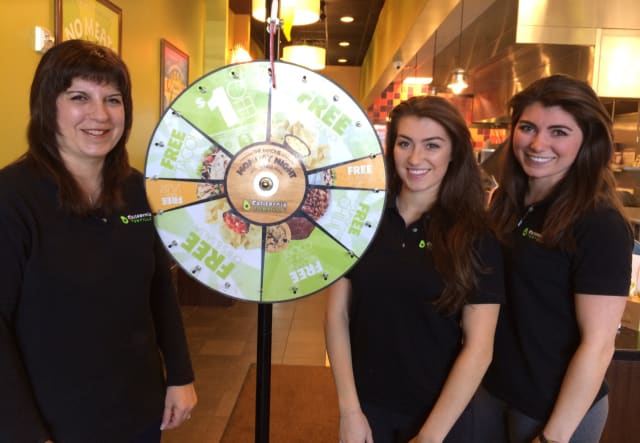 From left, Debra, Lyndsey and Lauren Sanford at California Tortilla in Montvale.