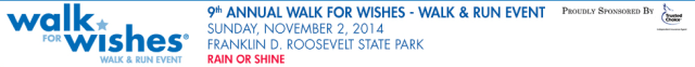 Hudson Valley's Make-A-Wish Foundation will host its ninth annual Walk and 5K Run for Wishes on Sunday, Nov. 2.