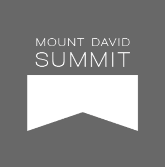 Bates student Parker Nelson presented his research project at the college's Mount David Summit.