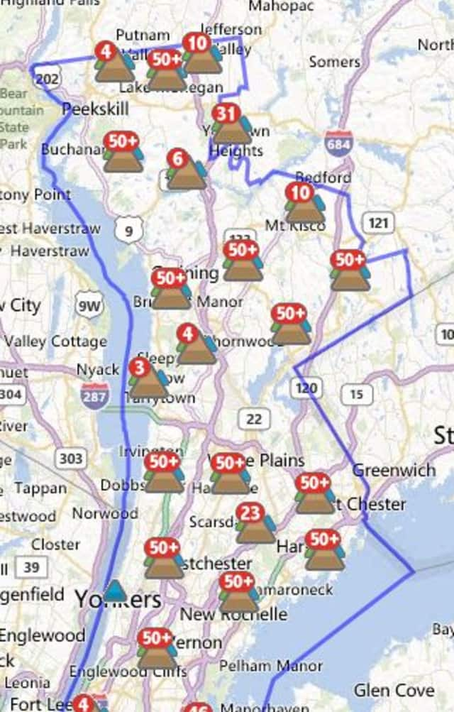 More than 3,100 Scarsdale customers were without power Tuesday morning.